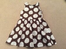Mini Boden brown white spotty dress age 18-24 months