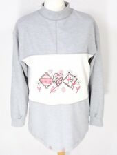 Vintage DASH Grey Marl Jumper 10 12 Embroidered Oversized Sweatshirt 80s 90s