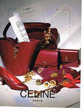 PUBLICITE ADVERTISING 094  1990  CELINE  BOUTIQUE  accessoires foulards sacs