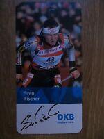 Handsignierte AK Autogrammkarte SVEN FISCHER Olympia GOLD Turin 2006 Biathlon #2