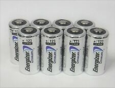 8 - Energizer 3v Lithium Battery 123 CR123 CR123A CR17345 - 2028 - Made in USA!!