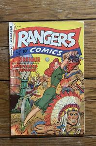 RANGERS COMICS #57, Iger Shop-c/a, VG Cond., Fiction House (1951)