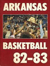 1982-83 University of Arkansas Razorback Basketball Media Guide  W2