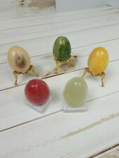 Lot of 5 Marble Eggs With Stands Free Shipping