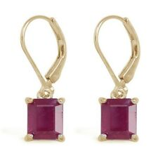 African Ruby lever Back Earrings in Rose Gold O/lay Sterling Silver 2.00 cts