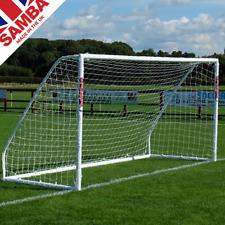 Samba 12 x 6ft Match Football Goals. 7 A Side Goal Post with Nets
