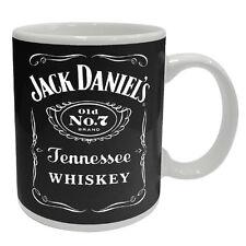 Jack Daniels Full Black Label Coffee Mug Cup No.7 Man Cave Birthday Fathers Gift