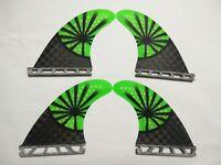 FUTURES compatible QUAD set PERFORMANCE CORE surfboard fibreglass FINS (set x 4)