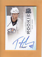 2009 10 THE CUP ROOKIE SP 199 AUTO # 91 TAYLOR CHORNEY EDMONTON OILERS