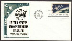 1967 Gemini Space Accomplishments Sc 1332b-51 Space Twins, unknown cachet