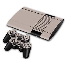 PS3 PlayStation 3 Super Slim Skin Design Aufkleber Schutzfolie Set- Retro NES