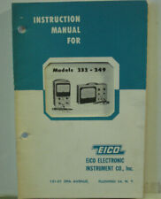 Instruction Manual EICO ELECTRONIC INSTRUMENT CO Models 232---249 VTVM
