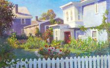 Provincetown BACKYARDS Ocean Cape Cod 12x20 Giclee Canvas