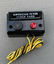 "American Flyer ""Stock Yard"".Black Control Button,High Quality!"