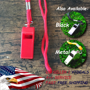 2pc Whistle with Lanyard Fox 40 Soccer Football Basketball Referee Whis~JO