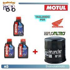 TAGLIANDO FILTRO OLIO + 3LT MOTUL 5000 10W40 HONDA XL V TRANSALP 650 2004