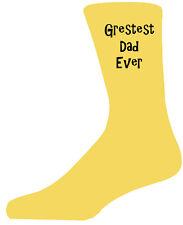 GREATEST DAD mai nel testo nero su giallo Calze, bellissimo regalo di compleanno