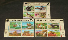 U.N.2002, ENDANGERED SPECIES, INSC. BLKS/4, MNH, ALL 3 OFFICES NICE!! LQQK!!!