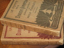 AMADUCCI, PAOLO LA FONTE DELLA DIVINA COMMEDIA, 2 VOLUMI 1911 rarissimo dante