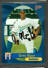 1999 Multi-Ad #25 Terry Mayo Brewers Baseball Card Signed Autograph (B43)