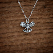 Handcast 925 Sterling Silver Yoga Fairy Charm Pendant FREE Cable Link Chain