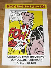 "ROY LICHTENSTEIN POSTER "" SWEET DREAMS, BABY ! "" POW! POP ART PLAKAT in MINT"