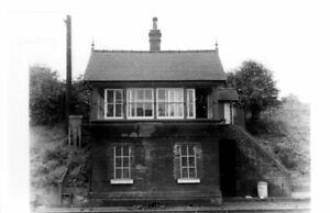 Rail Photo LMS NSR Harecastle station signal box staffordshire longport congleto
