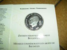 """coffret """" medaille commemorative baudouin """" en argent - 1993"""