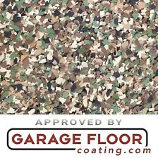 "20 lbs - Decorative Color Chip Flakes for Epoxy Floor Coatings, 1/4"" Camo Blend"