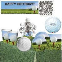 Golf Party Supplies Tableware, Decorations, Banner, Centrepiece, Balloons