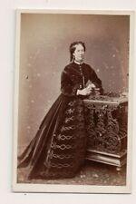 Vintage CDV Viscountess Eliza Ellice Moglie di Henry Marca, 1st Visconte Hampden