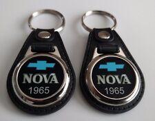 1965 CHEVY NOVA KEYCHAIN 2 PACK CLASSIC CAR LOGO