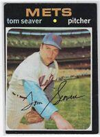 "1971 TOPPS TOM SEAVER CARD #160 NEW YORK METS ""LOW GRADE"""