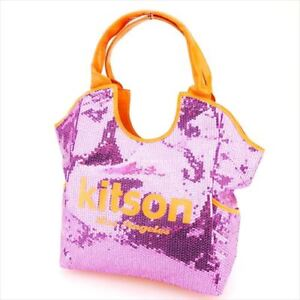 kitson Tote bag Pink Orange Woman Authentic Used P746