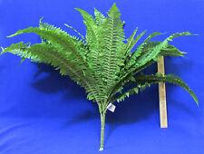 "Artificial Boston Fern Bush Houseplant Plant Green 1 Bunch Foilage 22"" Tall Silk"