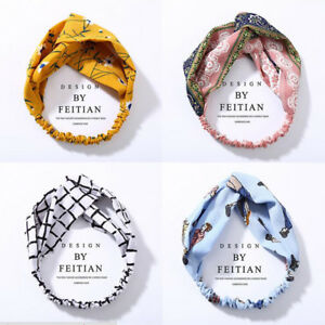 Fashion Women's Turban Twist Knot Head Wrap Headband Twisted Knotted Hair Band -