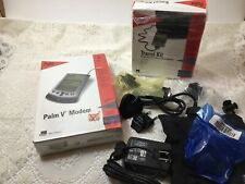 Vintage Sealed Electronic Palm V Modem Organizer 1990's + Travel Kit