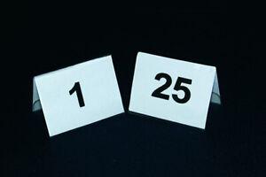 Tischnummernschilder 1-25 Tischnummerierung Tischaufsteller Tischnummer