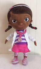 "Doc McStuffins Plush Girl Lab Coat Disney Store Stuffed Toy 13"""