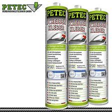 Petec Colle pour Vitres avec Buse Réglable 310ml Noir Durcissant (83310)