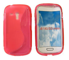 Shockproof Gel Case Protector Cover For Samsung Galaxy S3 Mini GT i8190 Pink