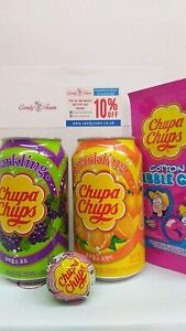 Chupa Chups Box Hamper of Sweets & Fizzy Drink by Candy Town 4 Items Gift CT8