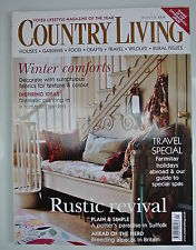 Country Living Magazine. January, 2005. Issue No. 229. Rustic revival. Winter co