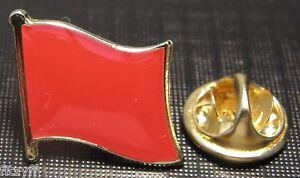 Red Flag Pin Badge Socialist Socialism Communist Symbol Labour Brooch