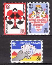 Dutch Antilles - 1977 Bridge championship Mi. 329-31 MNH