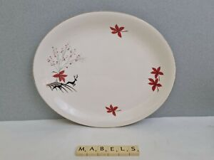 ALFRED MEAKIN ~STAG - RED~ small oval platter