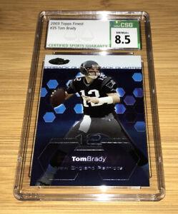 2003 Topps Finest #35 Tom Brady CSG 8.5 Patriots Slabs Are Stunning 👀