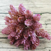 30 Heads Small Pineapple Plastic Leaves DIY Wedding Plant Green Leaf Home Decor