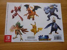 Official Promo  Nintendo Switch Pokken Tournament DX Stickers x6