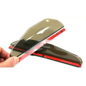 2* Black Car Rear View Side Mirror Rain Board Eyebrow Guard Sun Visor Universal